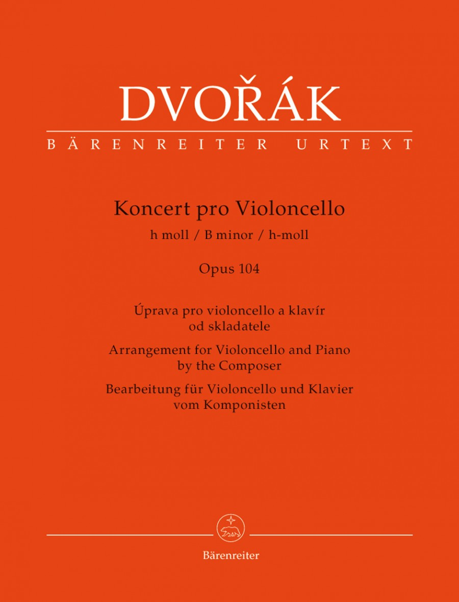 Dvorak: Concerto In B Minor Opus 104 for Cello published by Barenreiter