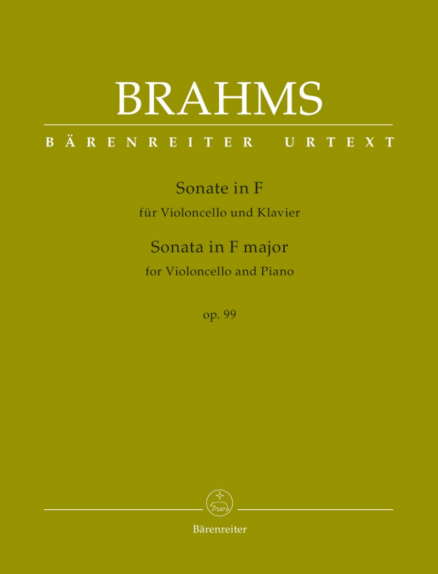 Brahms: Sonata in F Op99 for Cello published by Barenreiter