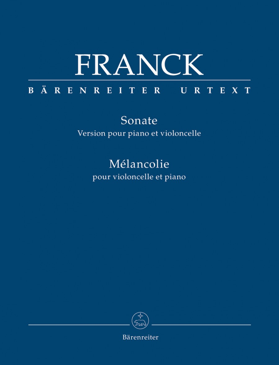 Franck: Sonata for Cello published by Barenreiter