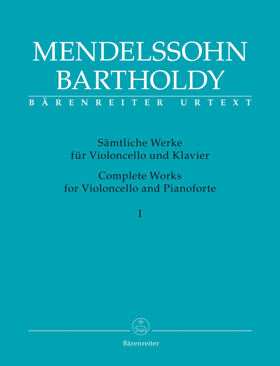 Mendelssohn: Complete Works for Cello & Piano Volume 1 published by Barenreiter