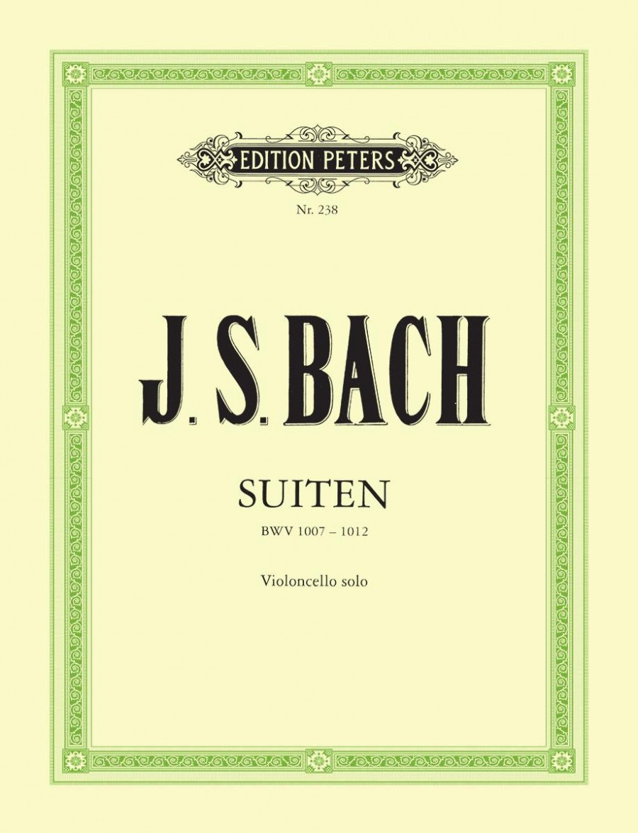 Bach: 6 Solo Suites BWV 1007-1012 for Cello published by Peters Edition