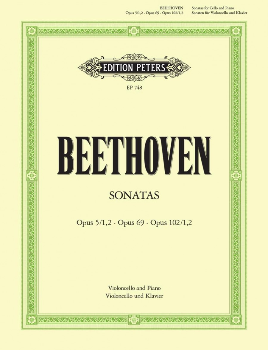 Beethoven: 5 Sonatas for Cello published by Peters Edition
