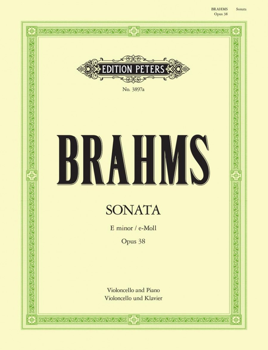 Brahms: Sonata in E Minor Opus 38 for Cello published by Peters Edition