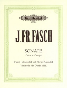 Fasch: Sonata in C for Bassoon published by Peters Edition