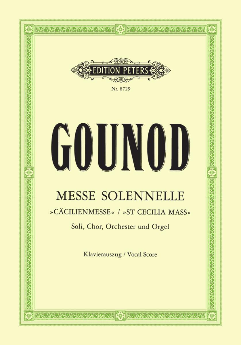 Gounod: Messe solennelle published by Peters - Vocal Score