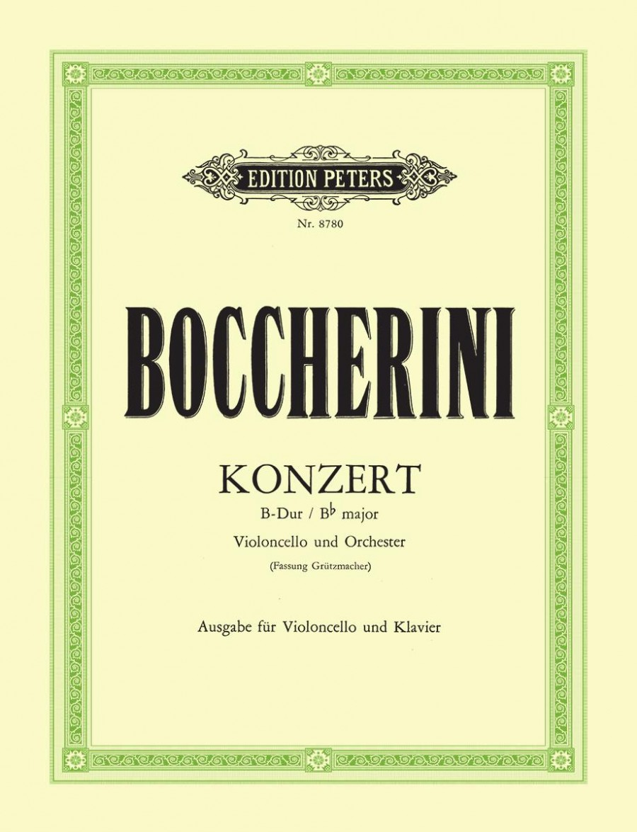 Boccherini: Concerto in Bb for Cello published by Peters