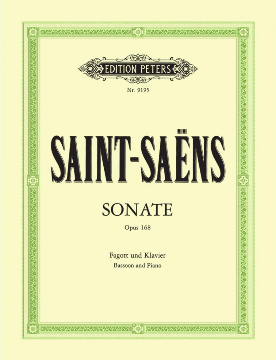 Sonata Opus 168 by Saint-Saens for Bassoon published by Peters Edition