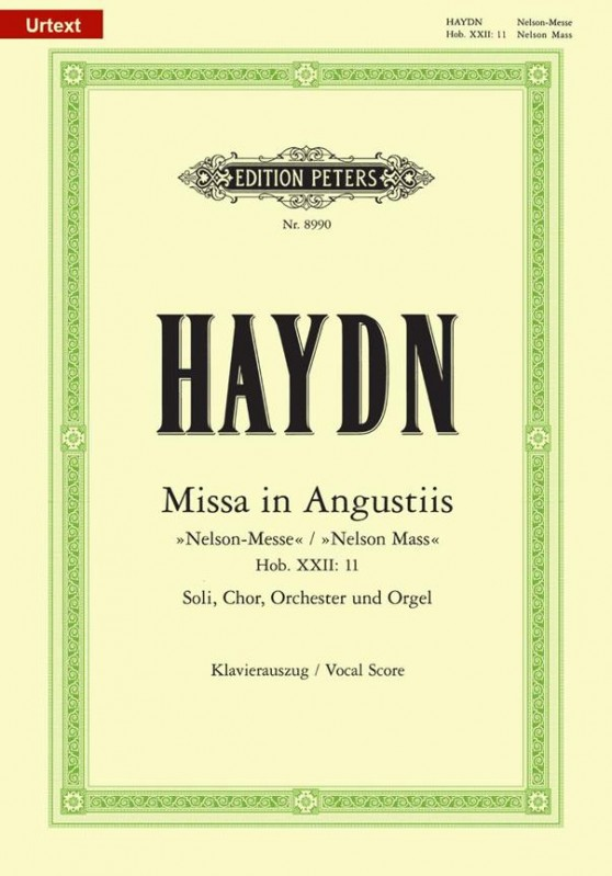 Haydn: Missa in Angustiis (Nelson Mass) (HobXXII:11) published by Peters Urtext - Vocal Score