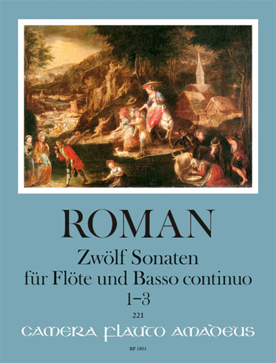 Roman: 12 Sonatas Volume 1 (1 - 3) for Flute published by Amadeus