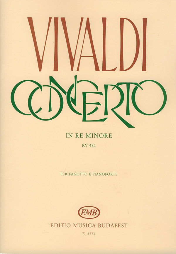 Vivaldi: Concerto No 5 in D Minor FVIII for Bassoon published by EMB