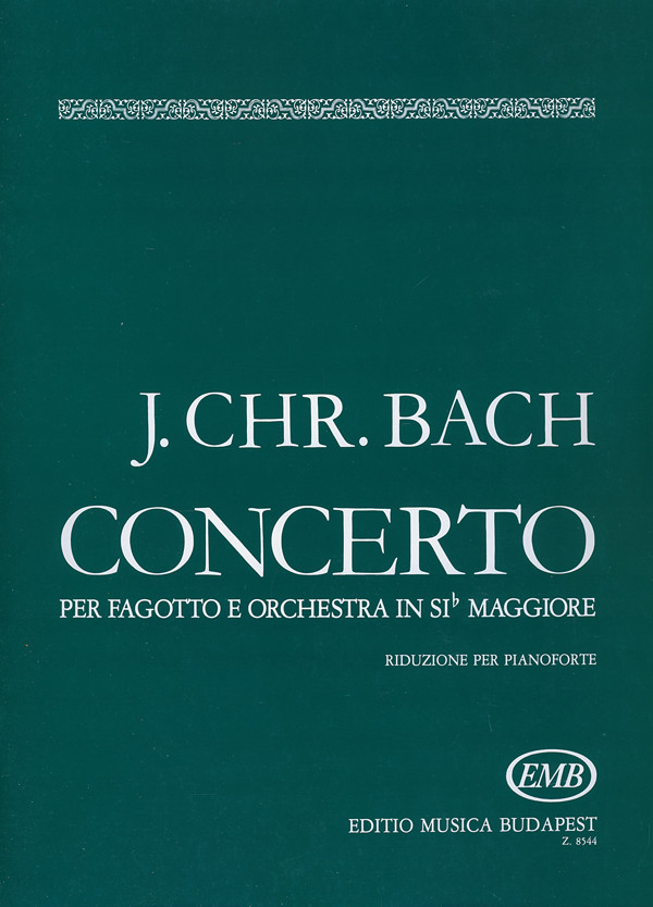 Bach: Concerto in Bb for Bassoon published by EMB