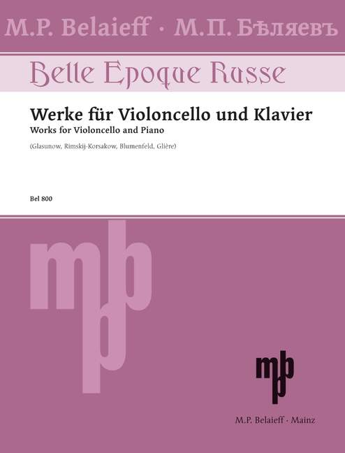 Works for Cello & Piano published by Belaieff