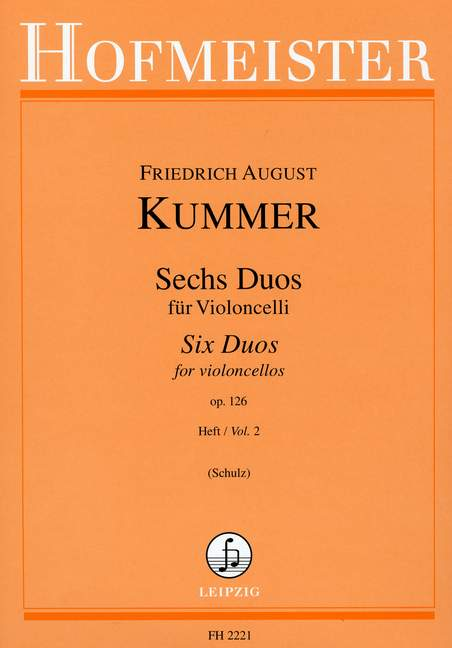 Kummer: Six Duos for Two Cellos Opus 126 Volume 2 published by Hofmeister