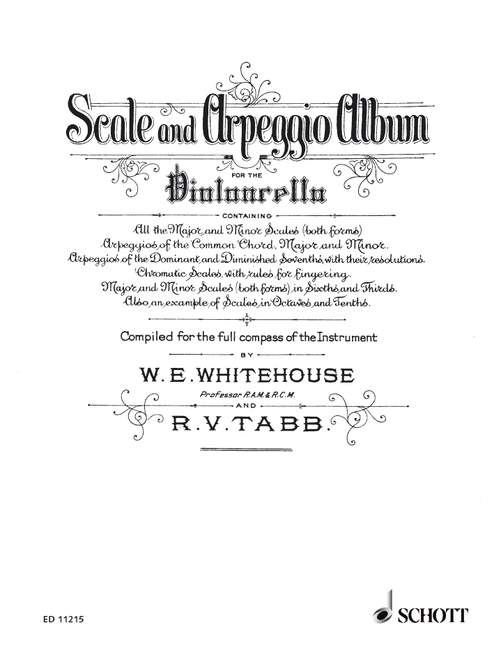 Whitehouse & Tabb: Scale and Arpeggio Album for Cello published by Schott