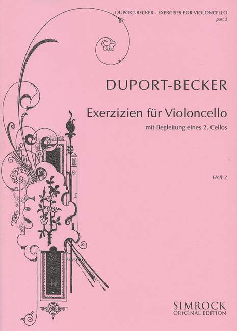 Duport: 21 Exercises for Cello Part 2 published by Simrock