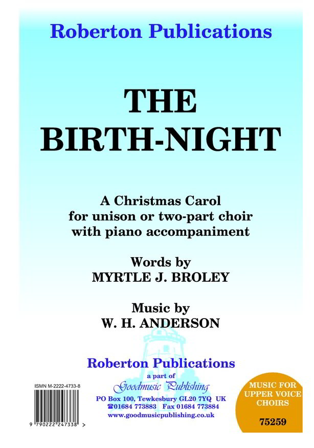 Anderson: Birth-Night Unison or 2pt published by Roberton
