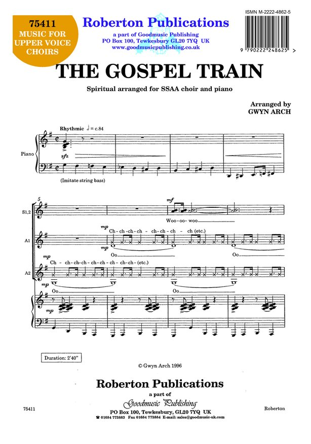 Arch: Gospel Train SSAA published by Roberton