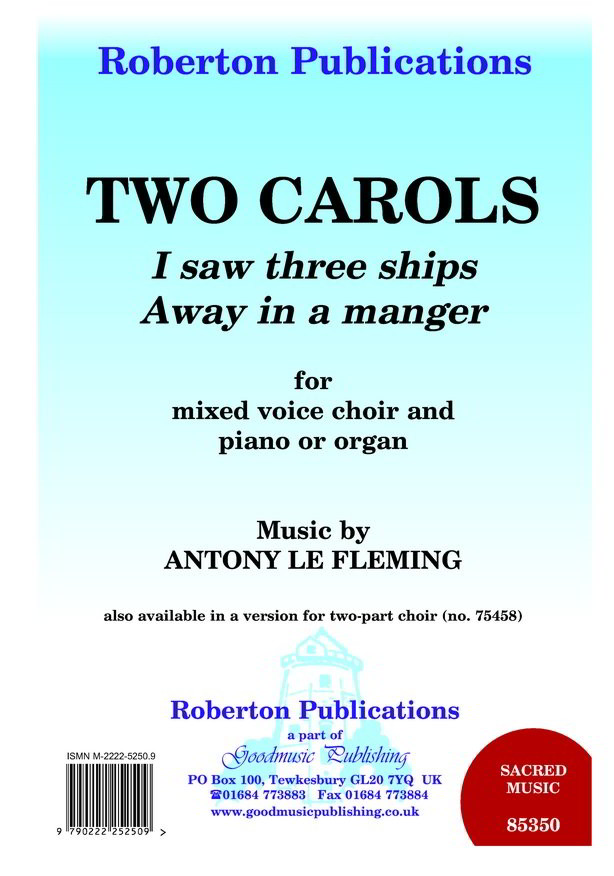 Fleming: Two Carols SATB published by Roberton