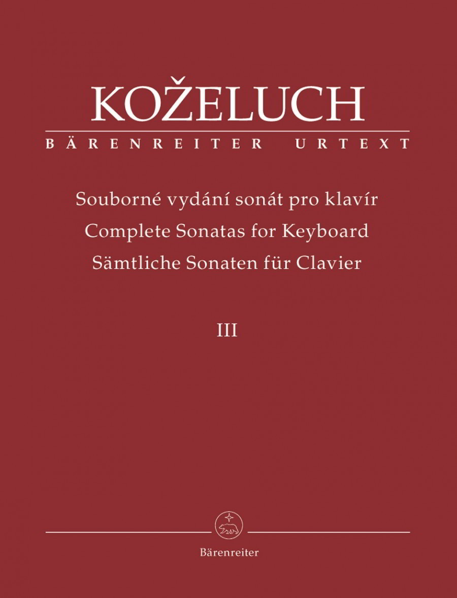Kozeluch: Complete Sonatas for Keyboard Solo Volume III published by Barenreiter