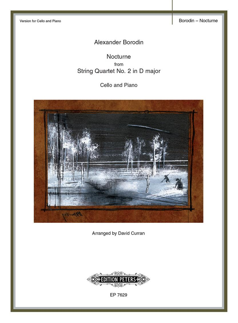 Borodin: Nocturne from String Quartet No 2 in D for Cello published by Peters