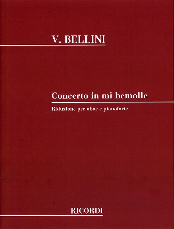 Bellini: Concerto in Eb for Oboe published by Ricordi