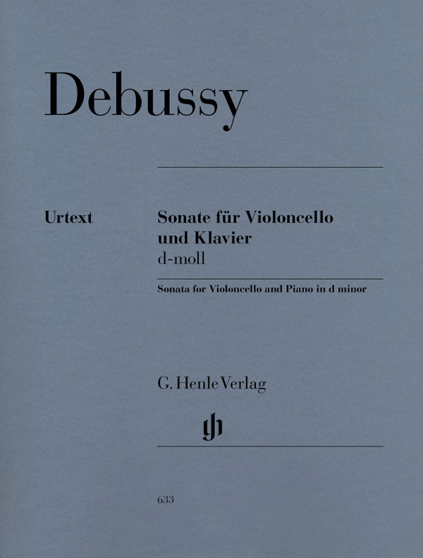 Debussy: Sonata for Cello published by Henle Urtext