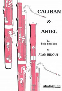 Ridout: Caliban and Ariel for Solo Bassoon published by Studio Music