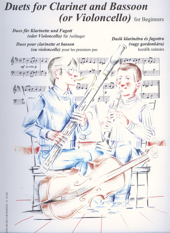 Duets for Beginners for Clarinet and Bassoon or Cello published by Edition Musica Budapest