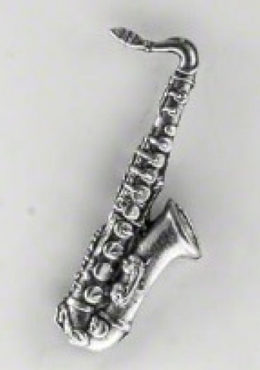 Pewter Pin Badge - Saxophone