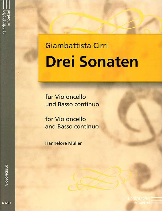 Cirri: 3 Sonatas for Cello published by Heinrichshofen