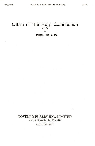 Ireland: Office Of The Holy Communion Service In C published by Novello