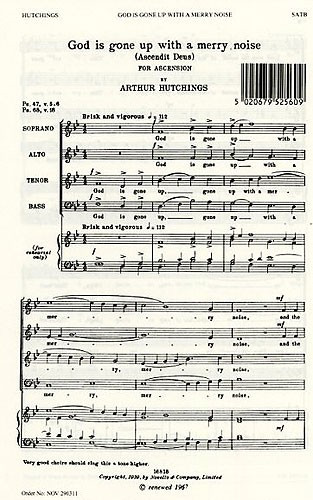 Hutchings: God Is Gone Up (Ascendit Deus) SATB published by Novello