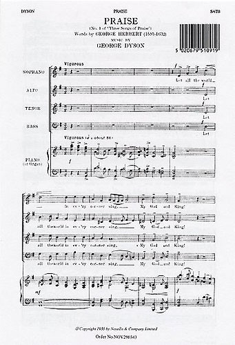 Dyson: Praise No.1 SATB published by Novello