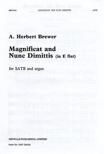 Brewer: Magnificat And Nunc Dimittis In Eb published by Novello