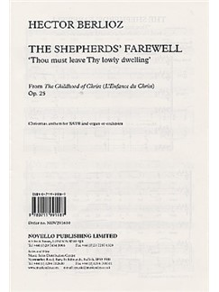 Berlioz: The Shepherds' Farewell SATB published by Novello