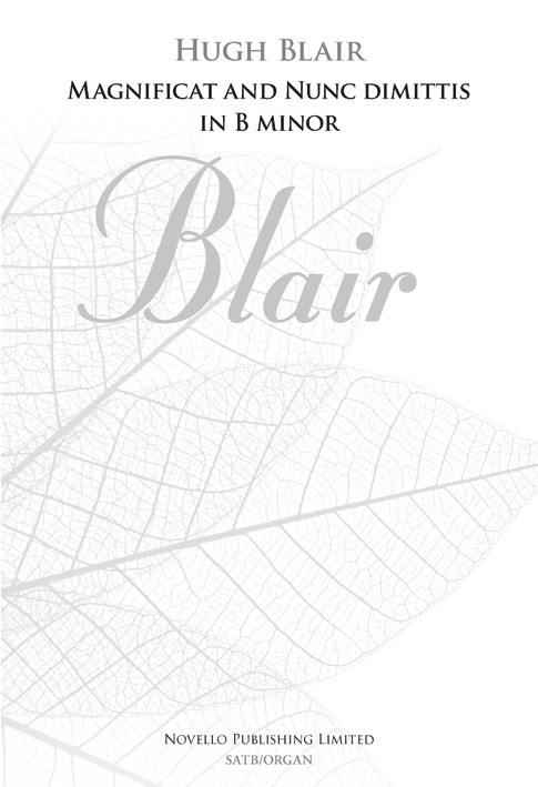 Blair: Magnificat And Nunc Dimittis In B Minor published by Novello