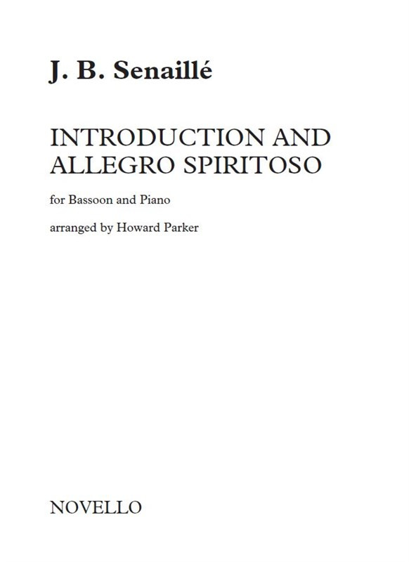Senaille: Introduction and Allegro Spiritoso for Bassoon published by Novello