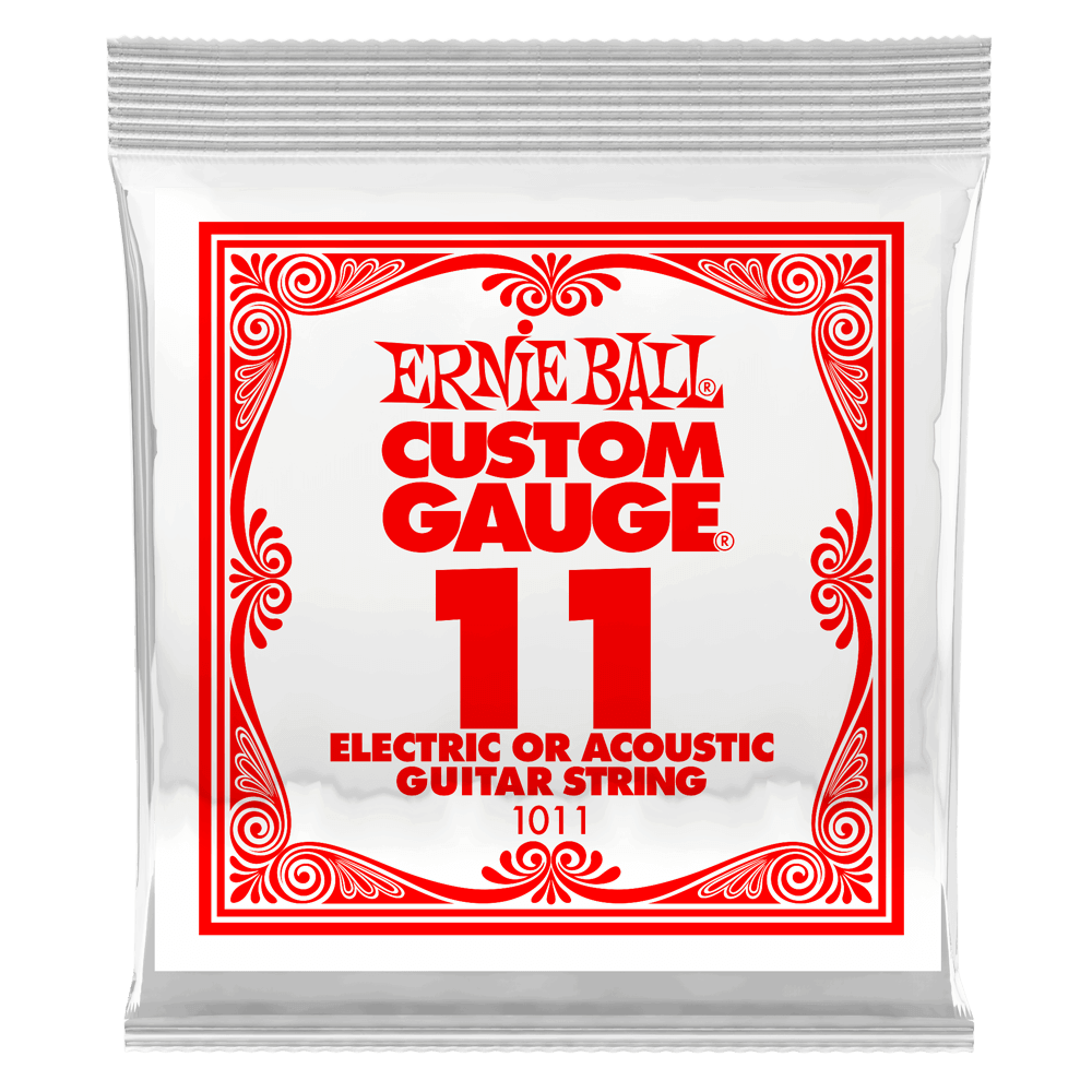 Ernie Ball .011 Plain Steel Electric or Acoustic Guitar String