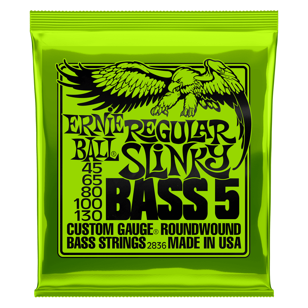 Ernie Ball Regular Slinky 45-130 5-String Bass Strings
