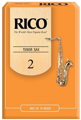 Rico by D'Addario Tenor Saxophone Reeds (Pack of 10) Strength 2
