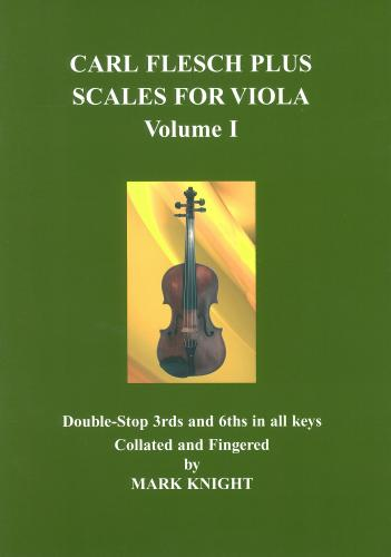 Carl Flesch Plus Scales for Viola Volume I by Knight published by Strings Attached