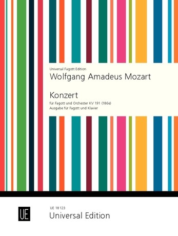 Mozart: Concerto in Bb K191 for Bassoon published by Universal Edition