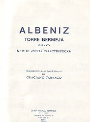 Albeniz: Torre Bermeja Serenata for 2 Guitars published by UME
