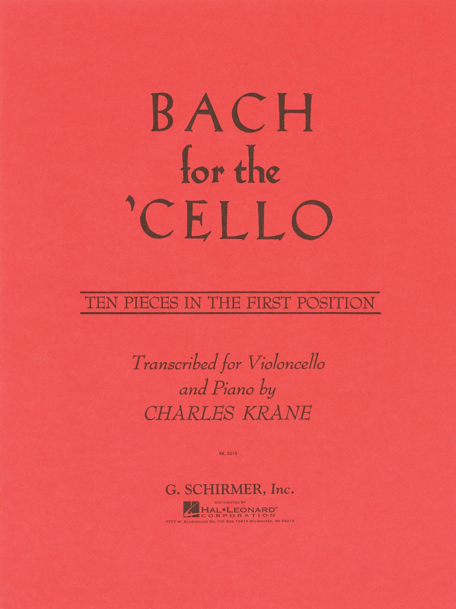 Bach For The Cello published by Schirmer