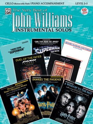 The Very Best of John Williams for Cello Book & CD published by Alfred