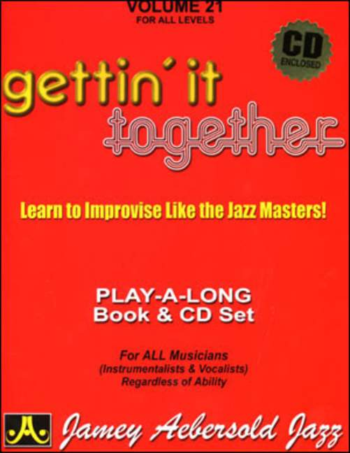 Aebersold 21 Gettin' it together Book & CD for All Instruments