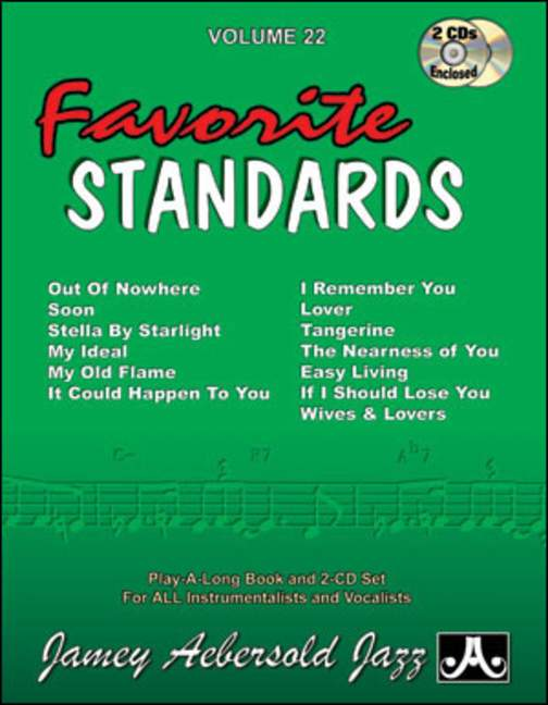 Aebersold 22 Favourite Standards Book & CD for All Instruments