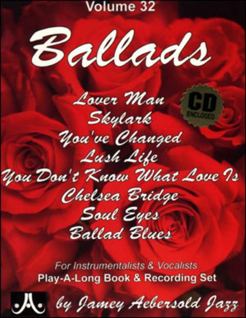 Aebersold 32 Ballads Book & CD for All Instruments