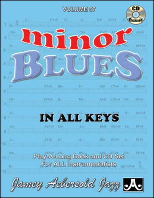Aebersold 57 Minor Blues In All Keys Book & CD for All Instruments
