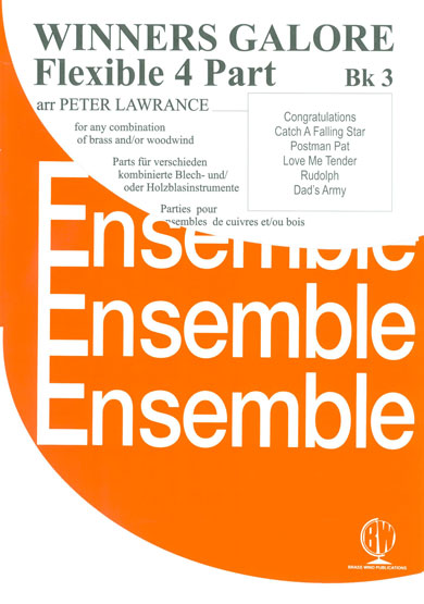 Winners Galore Flexible 4 Part Ensemble Book 3 for Woodwind and/or Brass published by Brasswind